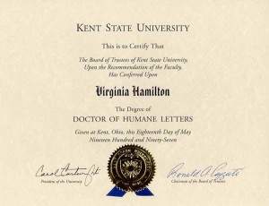 Honorary Degree, Doctor of Humane Letters