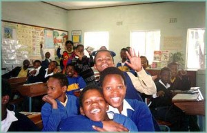 Capetown classroom Anywhere and everywhere kids will be kids.