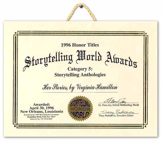 1996 honor titles storytelling world award